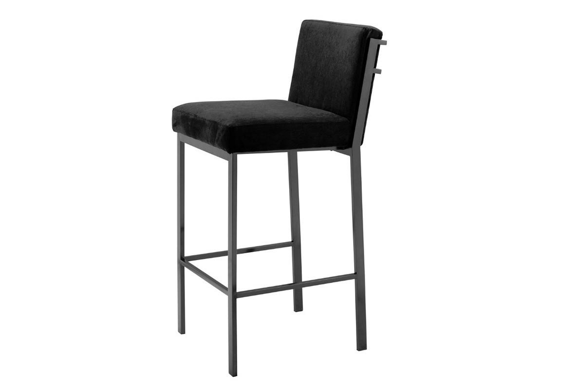 Стул барныйБарные стулья<br>Барный стул Barstool Scott выполнен из металла темно-бронзового цвета. Стул обтянут тканью черного цвета.<br><br>Material: Металл<br>Width см: 32<br>Depth см: 50<br>Height см: 100