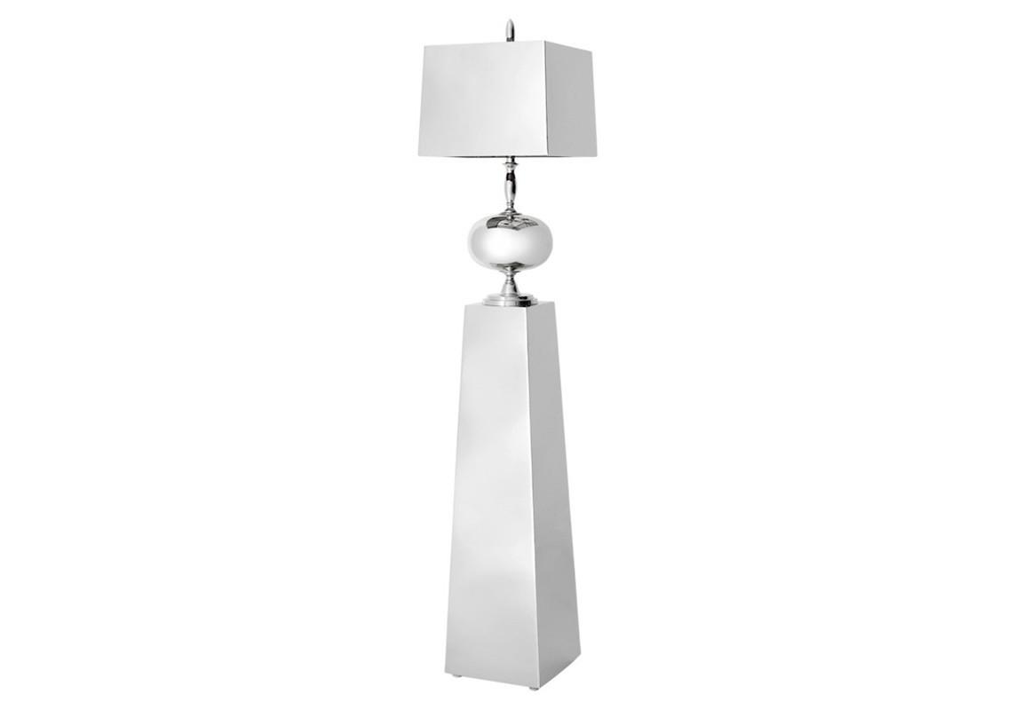 ТоршерТоршеры<br>Торшер Floor Lamp Bastille на основании из никелированного металла. Абажур и ваза также выполнены из металла.<br><br>Material: Металл<br>Высота см: 165