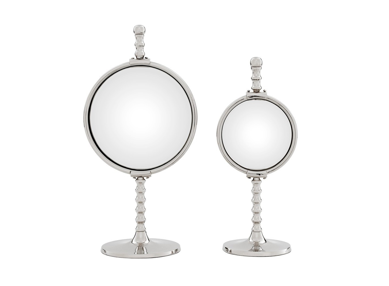 Зеркала (2шт)Настольные зеркала<br>Набор из 2-х настольных зеркал Mirror Floyd set of 2 на никелированном основании.&amp;amp;nbsp;&amp;lt;div&amp;gt;&amp;lt;br&amp;gt;&amp;lt;/div&amp;gt;&amp;lt;div&amp;gt;Размеры: 33х14 см, 39х20 см.&amp;lt;/div&amp;gt;<br><br>Material: Металл