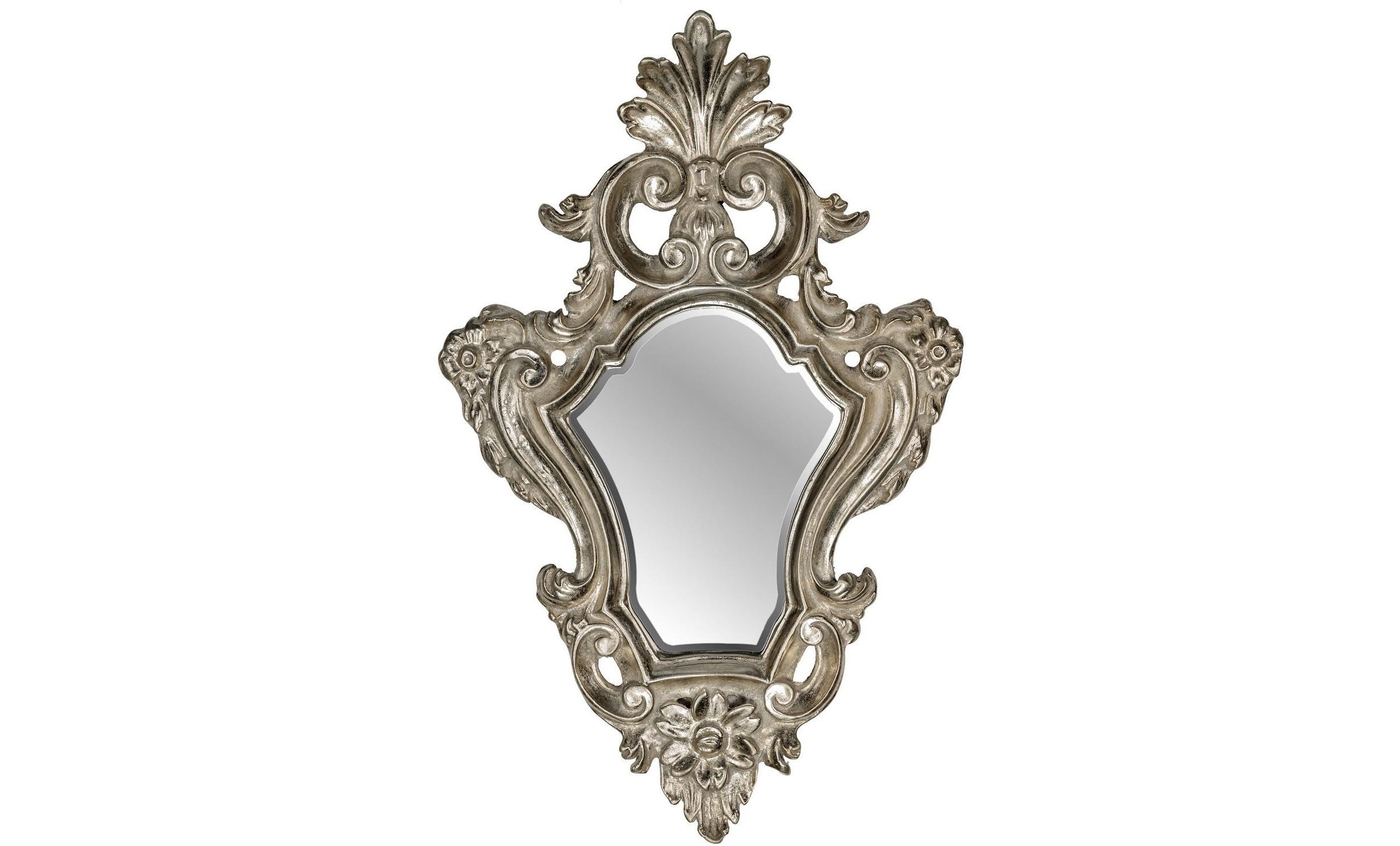 Зеркало Viola SilverНастенные зеркала<br><br><br>Material: Полирезин<br>Ширина см: 27.5<br>Высота см: 48.5<br>Глубина см: 4.0