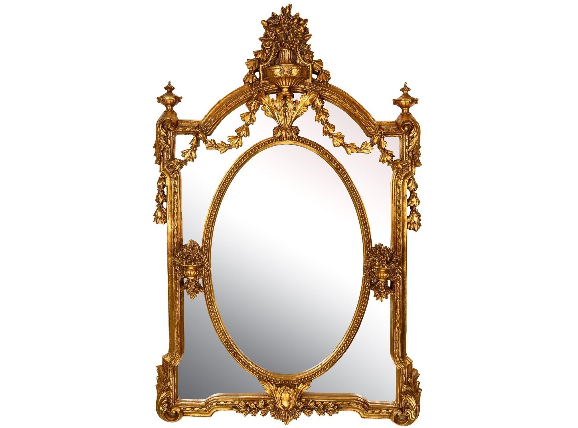 Зеркало GardenНастенные зеркала<br><br><br>Material: Полирезин<br>Width см: 87<br>Depth см: 12<br>Height см: 135