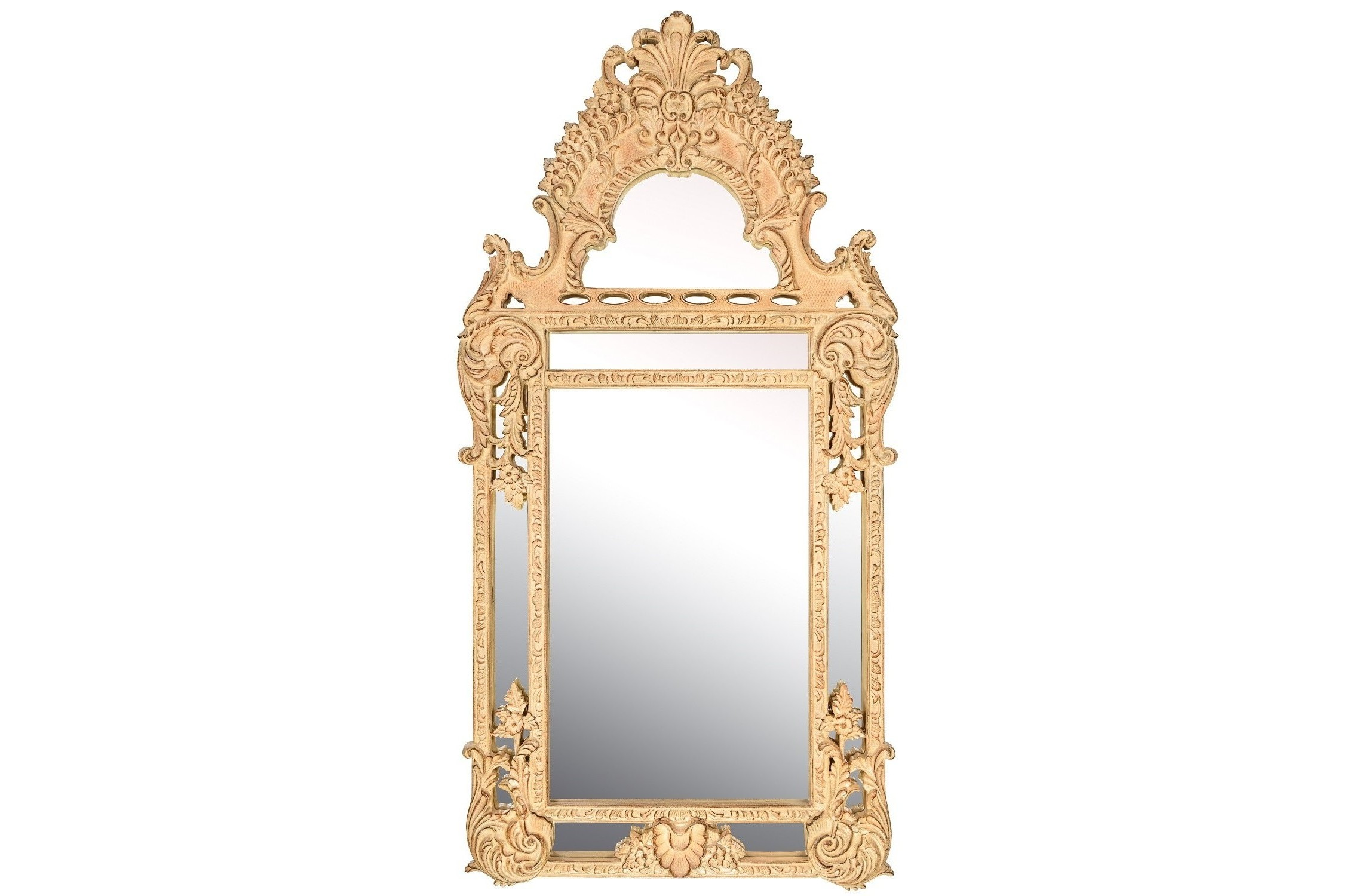 Зеркало Palace IvoryНастенные зеркала<br><br><br>Material: Полирезин<br>Width см: 75<br>Depth см: 4.5<br>Height см: 145
