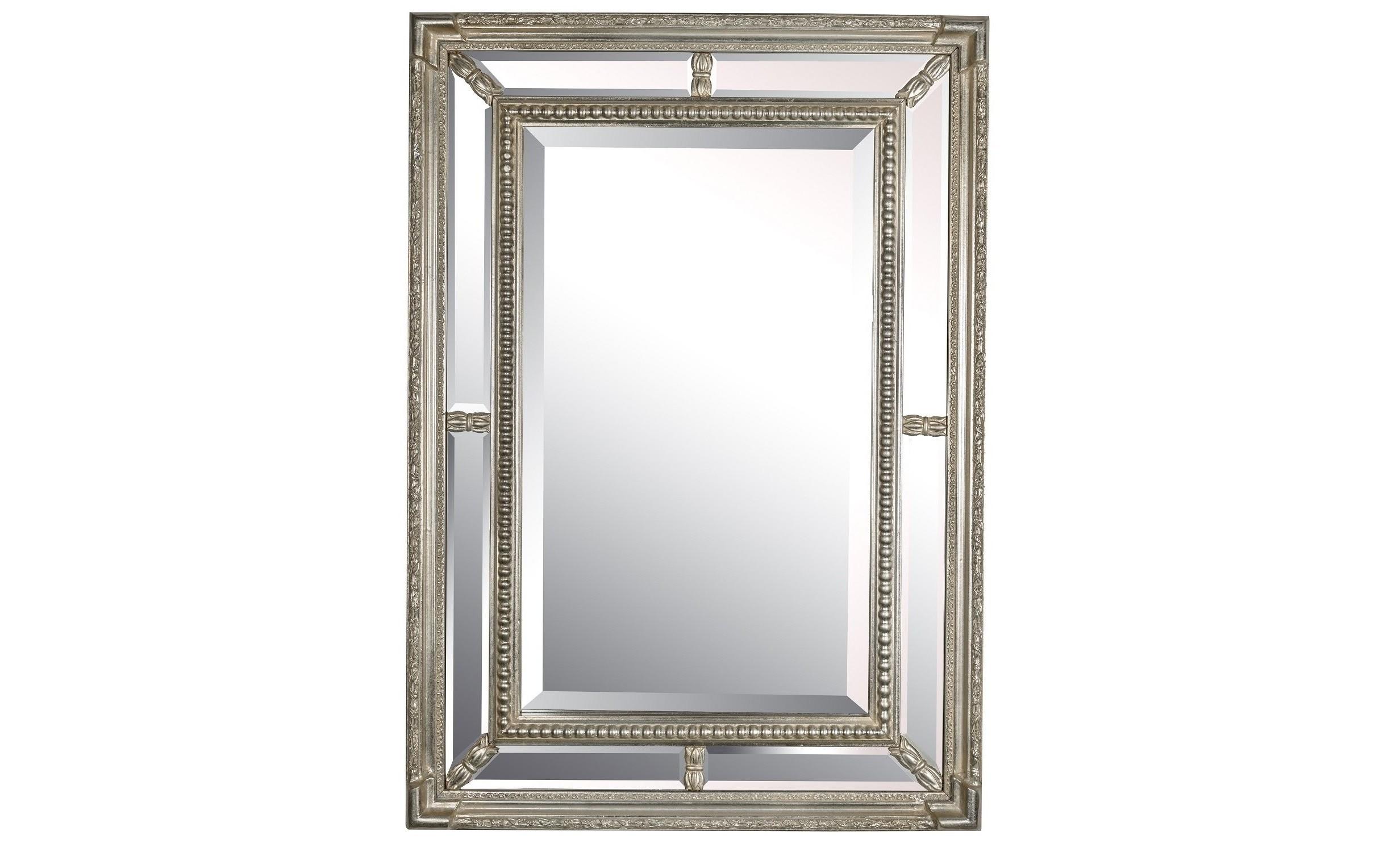 Зеркало Albert SilverНастенные зеркала<br><br><br>Material: Полирезин<br>Ширина см: 61.0<br>Высота см: 86.0<br>Глубина см: 4.0