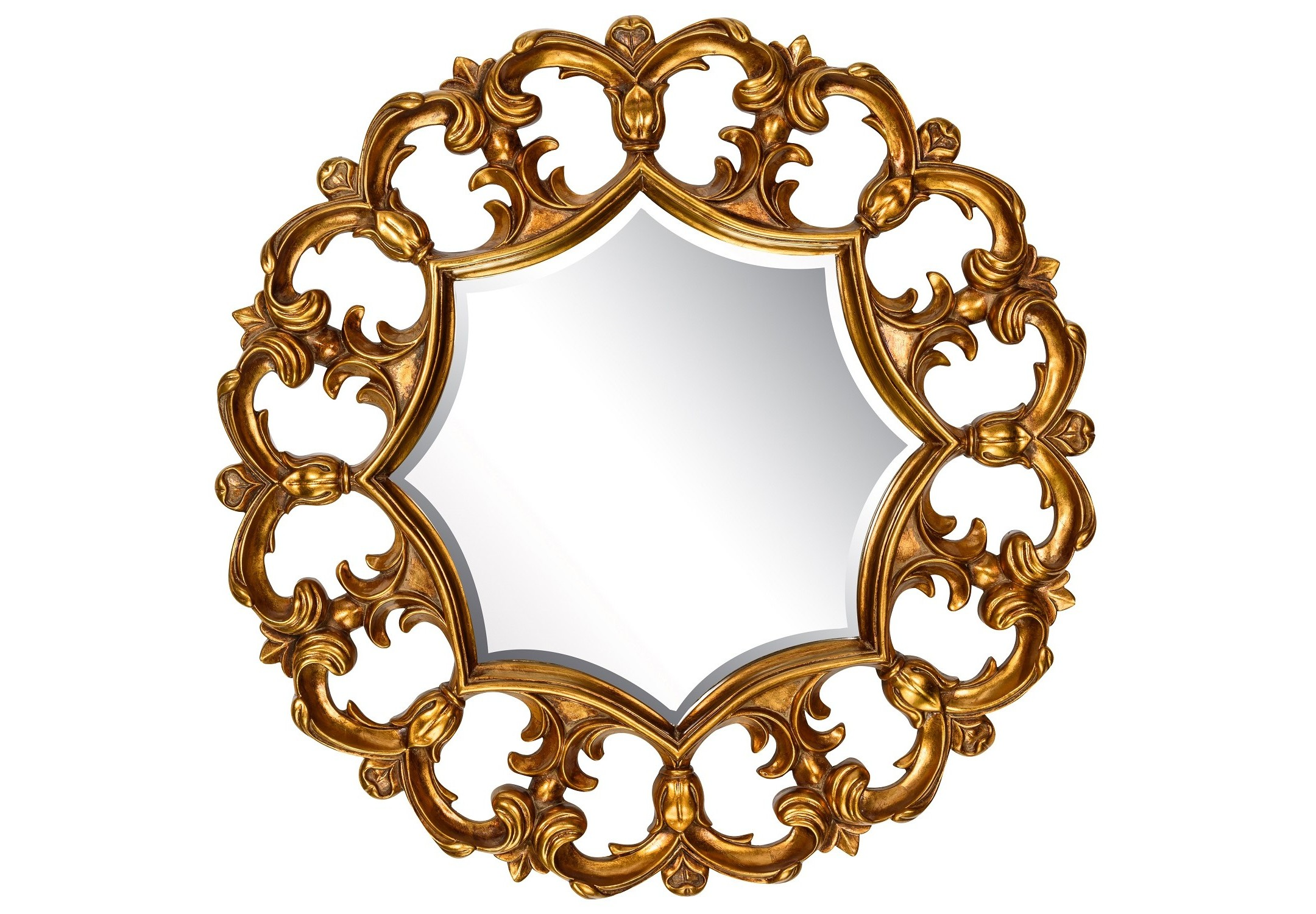 Зеркало Florian GoldНастенные зеркала<br><br><br>Material: Полирезин<br>Depth см: 5<br>Diameter см: 81