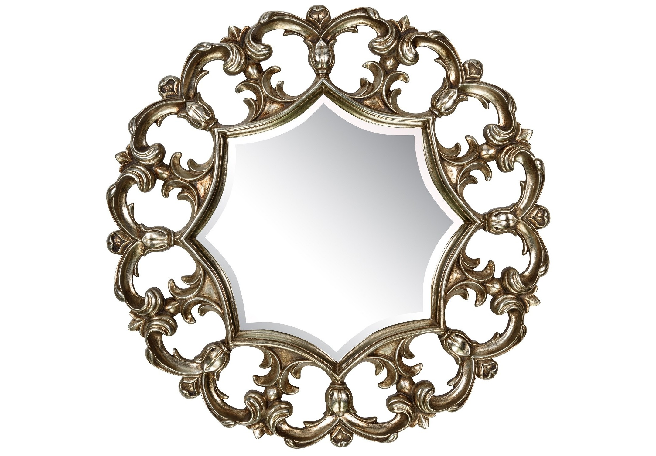 Зеркало Florian SilverНастенные зеркала<br><br><br>Material: Полирезин<br>Depth см: 5<br>Diameter см: 81