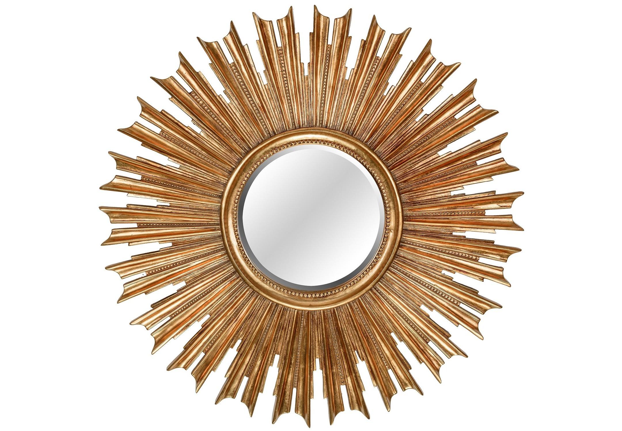 Зеркало Sunny GoldНастенные зеркала<br><br><br>Material: Полирезин<br>Depth см: 5<br>Diameter см: 100