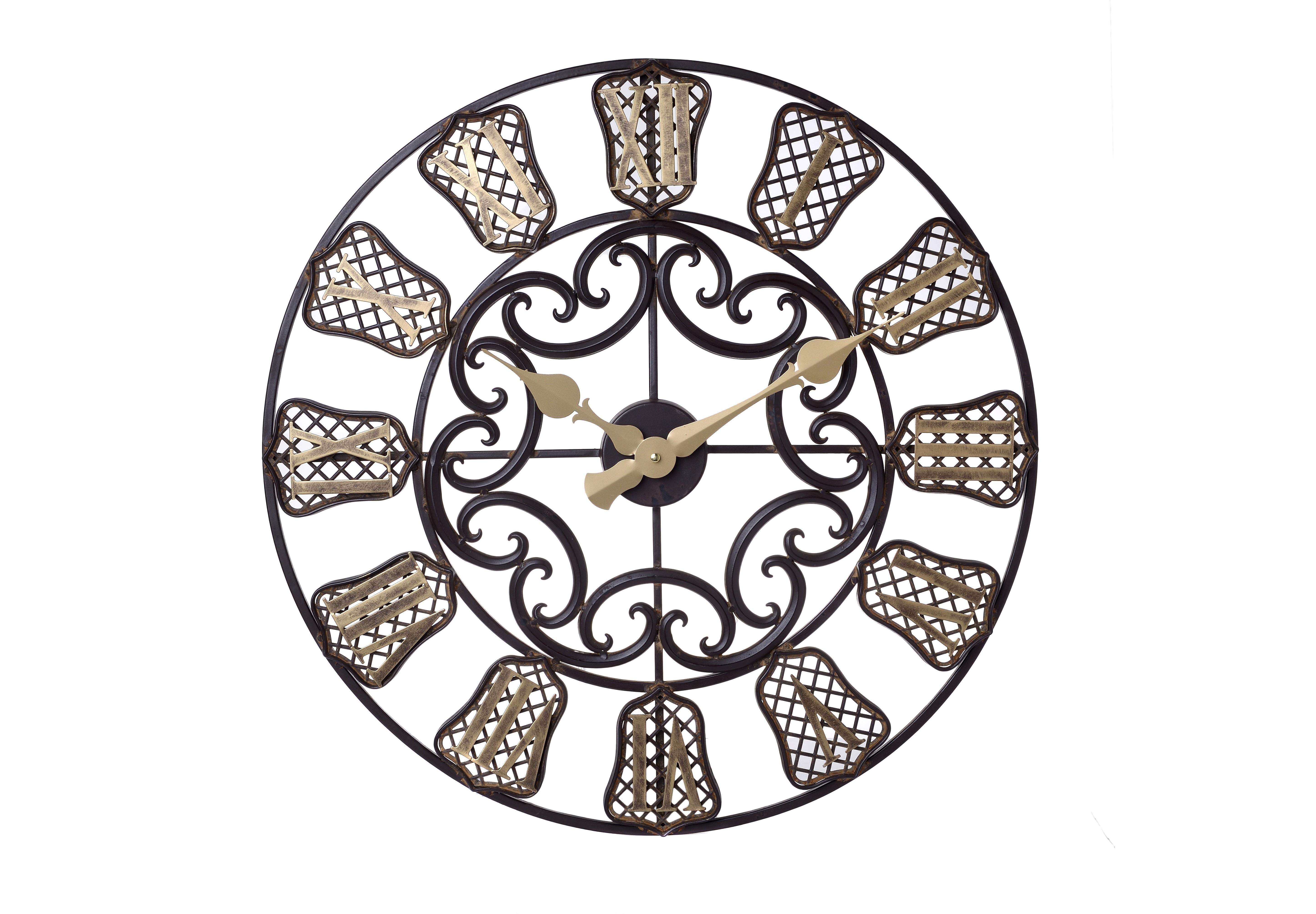 Часы настенные BradforНастенные часы<br>кварцевый механизм<br><br>Material: Металл<br>Width см: None<br>Depth см: 4<br>Height см: None<br>Diameter см: 60