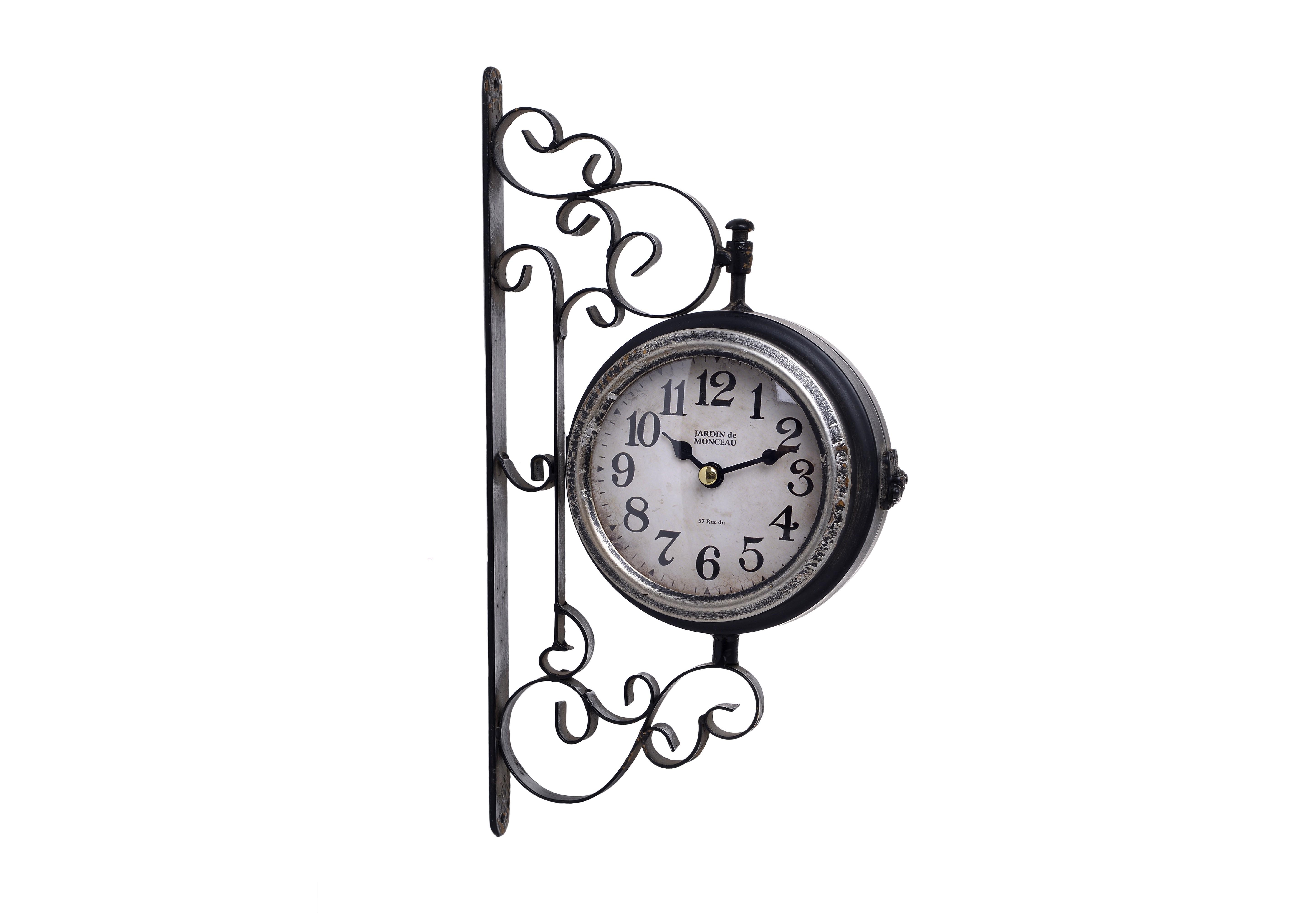 Часы настенные HamiltonНастенные часы<br>кварцевый механизм<br><br>Material: Металл<br>Width см: 16<br>Depth см: 8<br>Height см: 30