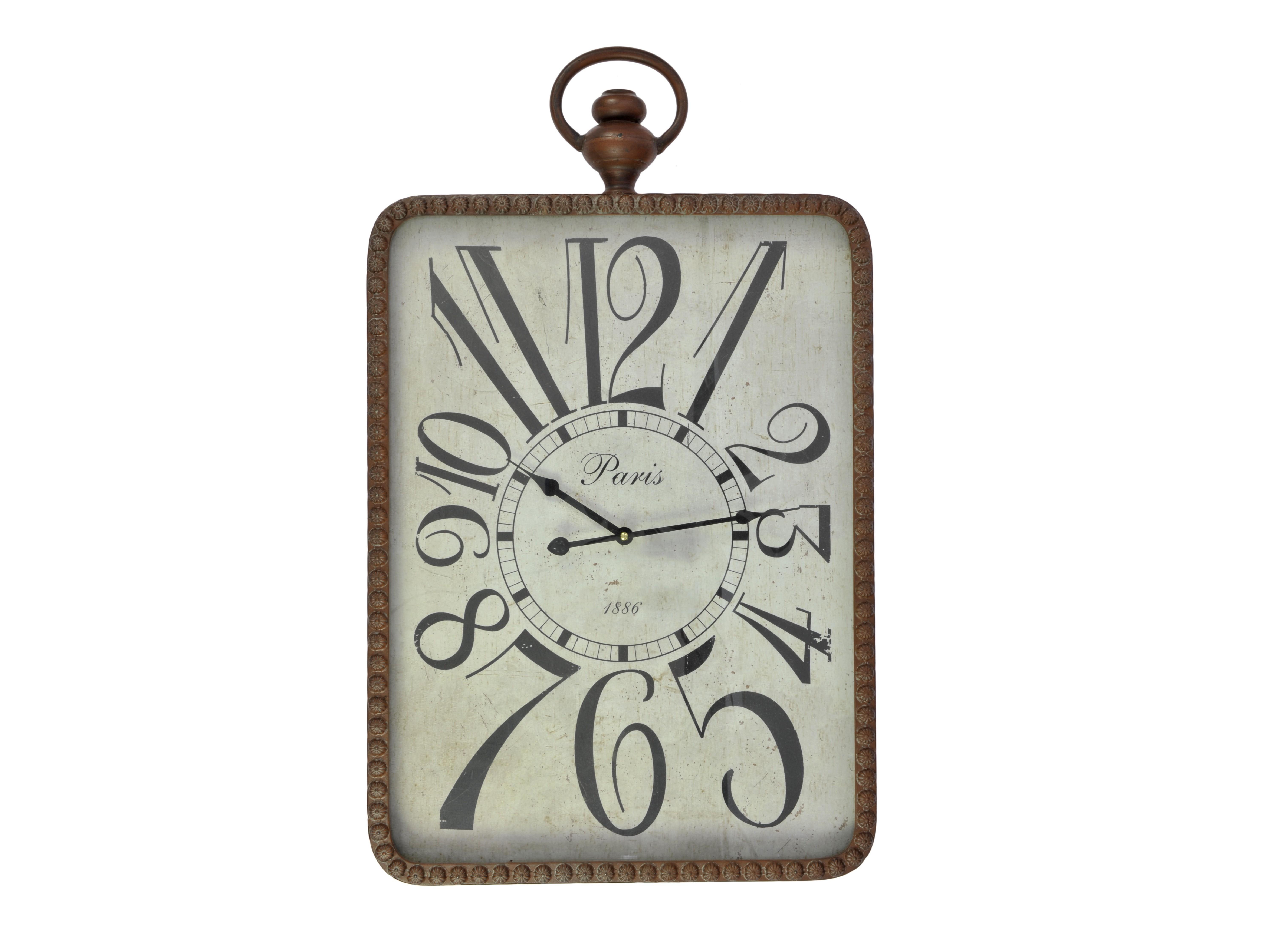 Часы настенные BrunoНастенные часы<br>кварцевый механизм<br><br>Material: Дерево<br>Width см: 45<br>Depth см: 7<br>Height см: 74