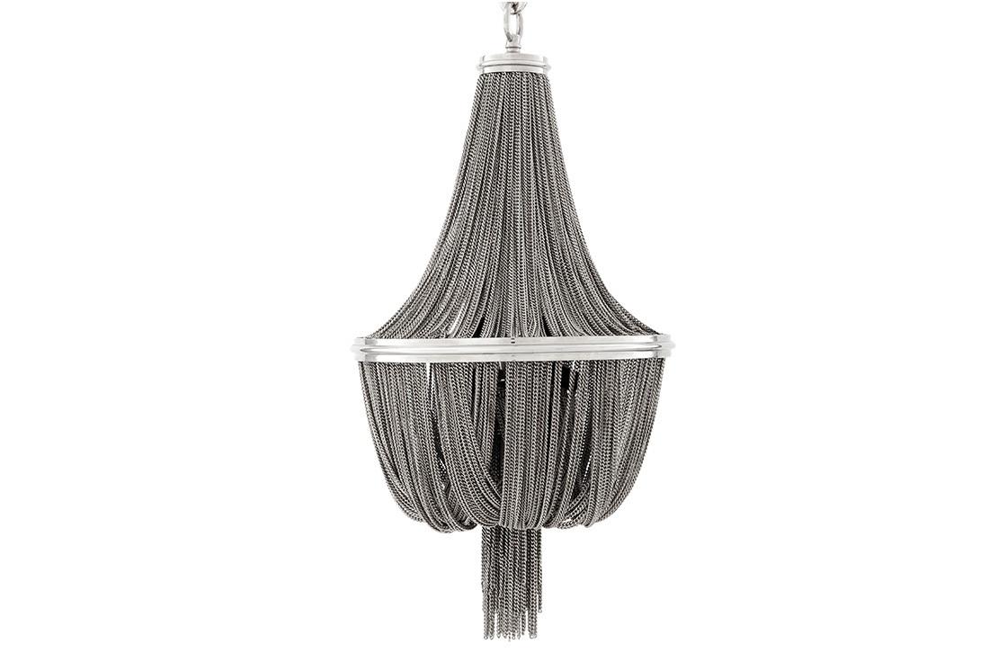 Люстра MartinezЛюстры подвесные<br>Люстра Martinez с металлической арматурой цвета никель. Люстра декорирована тонкими ниспадающими и собранными вместе мелкими цепочками.&amp;lt;div&amp;gt;&amp;lt;br&amp;gt;&amp;lt;/div&amp;gt;&amp;lt;div&amp;gt;&amp;lt;div&amp;gt;Цоколь: E14&amp;lt;/div&amp;gt;&amp;lt;div&amp;gt;Мощность: 40W&amp;lt;/div&amp;gt;&amp;lt;div&amp;gt;Количество ламп: 6&amp;lt;/div&amp;gt;&amp;lt;/div&amp;gt;<br><br>Material: Металл<br>Height см: 84<br>Diameter см: 44