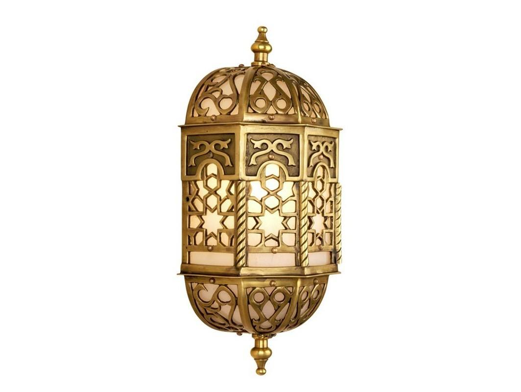 Настенный светильник EvezeБра<br>Настенный светильник Wall lamp Eveze с оригинальным дизайном в восточном стиле. Выполнен из металла цвета состаренной латуни.&amp;lt;div&amp;gt;&amp;lt;br&amp;gt;&amp;lt;/div&amp;gt;&amp;lt;div&amp;gt;&amp;lt;div&amp;gt;Цоколь: E14&amp;lt;/div&amp;gt;&amp;lt;div&amp;gt;Мощность: 40W&amp;lt;/div&amp;gt;&amp;lt;div&amp;gt;Количество ламп: 1&amp;lt;/div&amp;gt;&amp;lt;/div&amp;gt;<br><br>Material: Металл<br>Width см: 15<br>Depth см: 12<br>Height см: 34