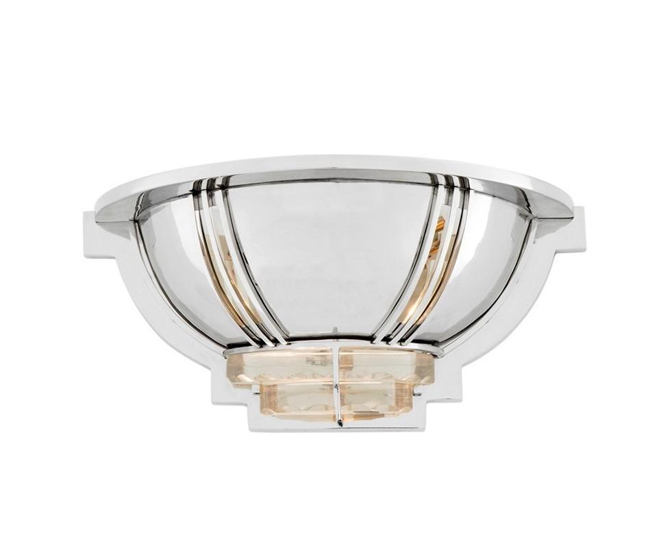 Настенный светильник BarriereБра<br>Настенный светильник Wall lamp Barriere с оригинальным дизайном. Выполнен из никелированного металла. Стеклянные вставки на плафоне.&amp;lt;div&amp;gt;&amp;lt;br&amp;gt;&amp;lt;/div&amp;gt;&amp;lt;div&amp;gt;&amp;lt;div&amp;gt;Цоколь: E14&amp;lt;/div&amp;gt;&amp;lt;div&amp;gt;Мощность: 40W&amp;lt;/div&amp;gt;&amp;lt;div&amp;gt;Количество ламп: 1&amp;lt;/div&amp;gt;&amp;lt;/div&amp;gt;<br><br>Material: Металл<br>Ширина см: 36<br>Высота см: 16<br>Глубина см: 16