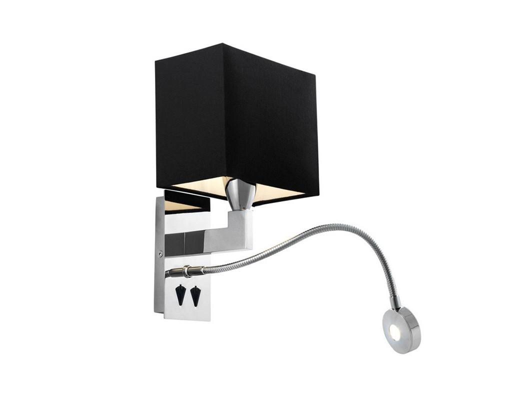 Настенный светильник BalthazarБра<br>Настенный светильник Wall lamp Balthazar на арматуре из никелированного металла. В комплекте текстильный абажур черного цвета. Led лампа для чтения с регулировкой на арматуре.&amp;lt;div&amp;gt;&amp;lt;br&amp;gt;&amp;lt;/div&amp;gt;&amp;lt;div&amp;gt;&amp;lt;div&amp;gt;Цоколь: E27&amp;lt;/div&amp;gt;&amp;lt;div&amp;gt;Мощность: 40W&amp;lt;/div&amp;gt;&amp;lt;div&amp;gt;Количество ламп: 1&amp;lt;/div&amp;gt;&amp;lt;/div&amp;gt;<br><br>Material: Металл<br>Width см: 19<br>Depth см: 17<br>Height см: 32