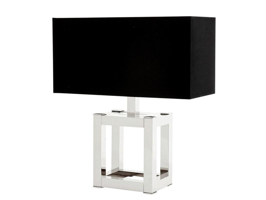 Настольная лампа HeraДекоративные лампы<br>Настольная лампа Table Lamp Hera на основании из никелированного металла. Текстильный абажур черного цвета скрывает лампу.&amp;lt;div&amp;gt;Мощность: 1 х 40Вт, цоколь: Е27&amp;lt;/div&amp;gt;<br><br>Material: Металл<br>Ширина см: 50.0<br>Высота см: 57<br>Глубина см: 22.0