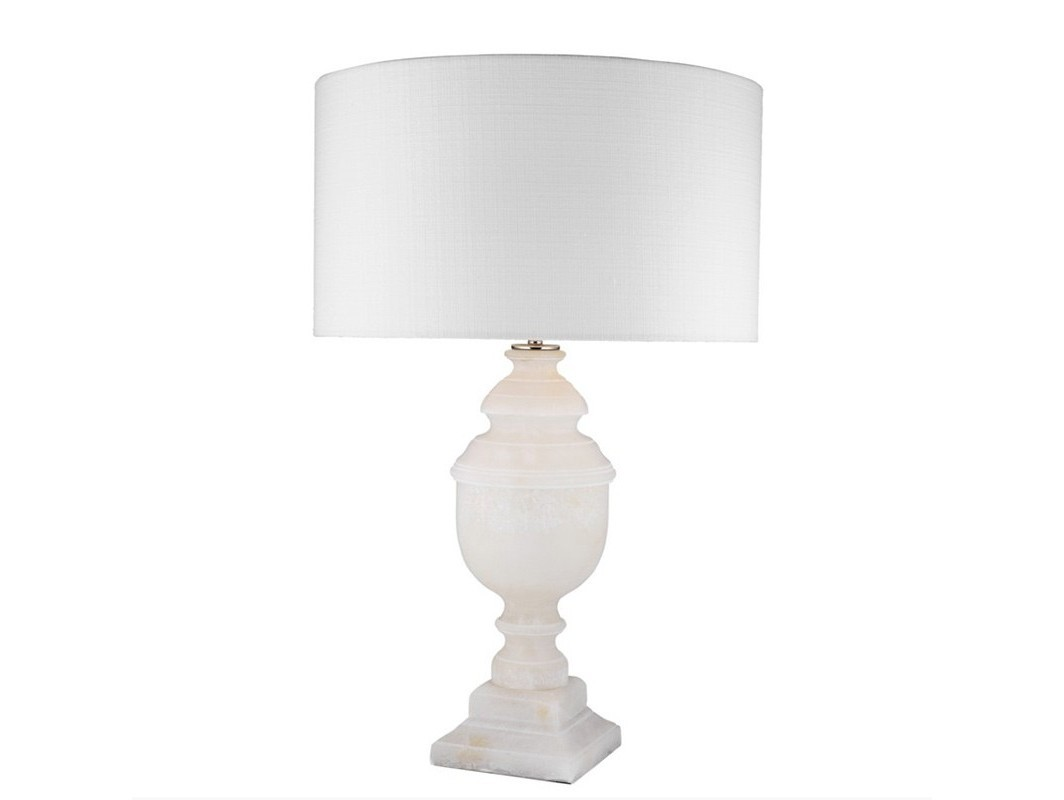 Настольная лампа TrophyДекоративные лампы<br>Настольная лампа Table Lamp Trophy на основании кремового цвета из камня алебастра. Текстильный абажур белого цвета скрывает лампу.&amp;lt;div&amp;gt;&amp;lt;br&amp;gt;&amp;lt;/div&amp;gt;&amp;lt;div&amp;gt;&amp;lt;div&amp;gt;Цоколь: E27&amp;lt;/div&amp;gt;&amp;lt;div&amp;gt;Мощность: 40W&amp;lt;/div&amp;gt;&amp;lt;div&amp;gt;Количество ламп: 1&amp;lt;/div&amp;gt;&amp;lt;/div&amp;gt;<br><br>Material: Камень<br>Высота см: 69