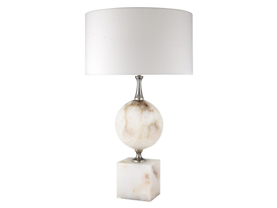 Настольная лампа CreekДекоративные лампы<br>Настольная лампа Table Lamp Creek на основании кремового цвета из камня алебастра. Текстильный абажур белого цвета скрывает лампу.&amp;lt;div&amp;gt;&amp;lt;br&amp;gt;&amp;lt;/div&amp;gt;&amp;lt;div&amp;gt;&amp;lt;div&amp;gt;Цоколь: E27&amp;lt;/div&amp;gt;&amp;lt;div&amp;gt;Мощность: 40W&amp;lt;/div&amp;gt;&amp;lt;div&amp;gt;Количество ламп: 1&amp;lt;/div&amp;gt;&amp;lt;/div&amp;gt;<br><br>Material: Камень<br>Height см: 80<br>Diameter см: 45