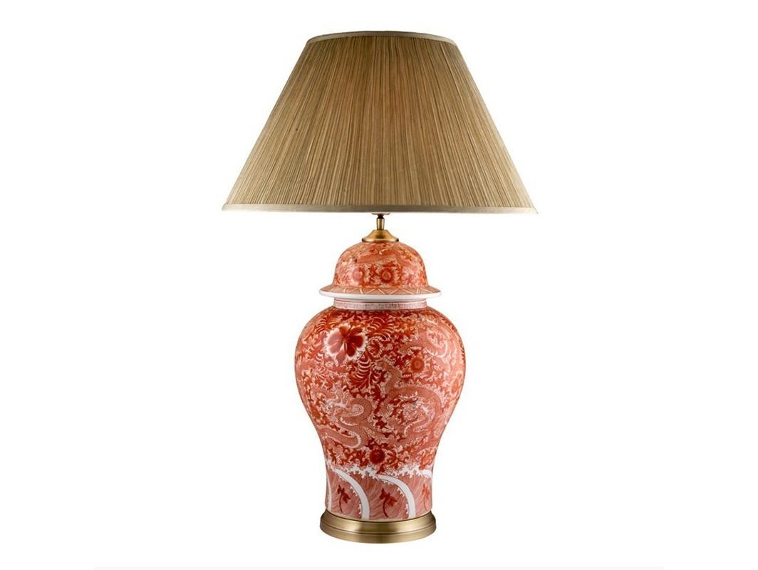 Настольная лампа PalmaritoДекоративные лампы<br>Настольная лампа Table Lamp Palmarito на основании из металла цвета латунь. Ваза выполнена из керамики с узором красного цвета. Текстильный абажур кремового цвета скрывает лампу.&amp;lt;div&amp;gt;&amp;lt;br&amp;gt;&amp;lt;/div&amp;gt;&amp;lt;div&amp;gt;&amp;lt;div&amp;gt;Цоколь: E27&amp;lt;/div&amp;gt;&amp;lt;div&amp;gt;Мощность: 60W&amp;lt;/div&amp;gt;&amp;lt;div&amp;gt;Количество ламп: 1&amp;lt;/div&amp;gt;&amp;lt;/div&amp;gt;<br><br>Material: Керамика<br>Высота см: 93