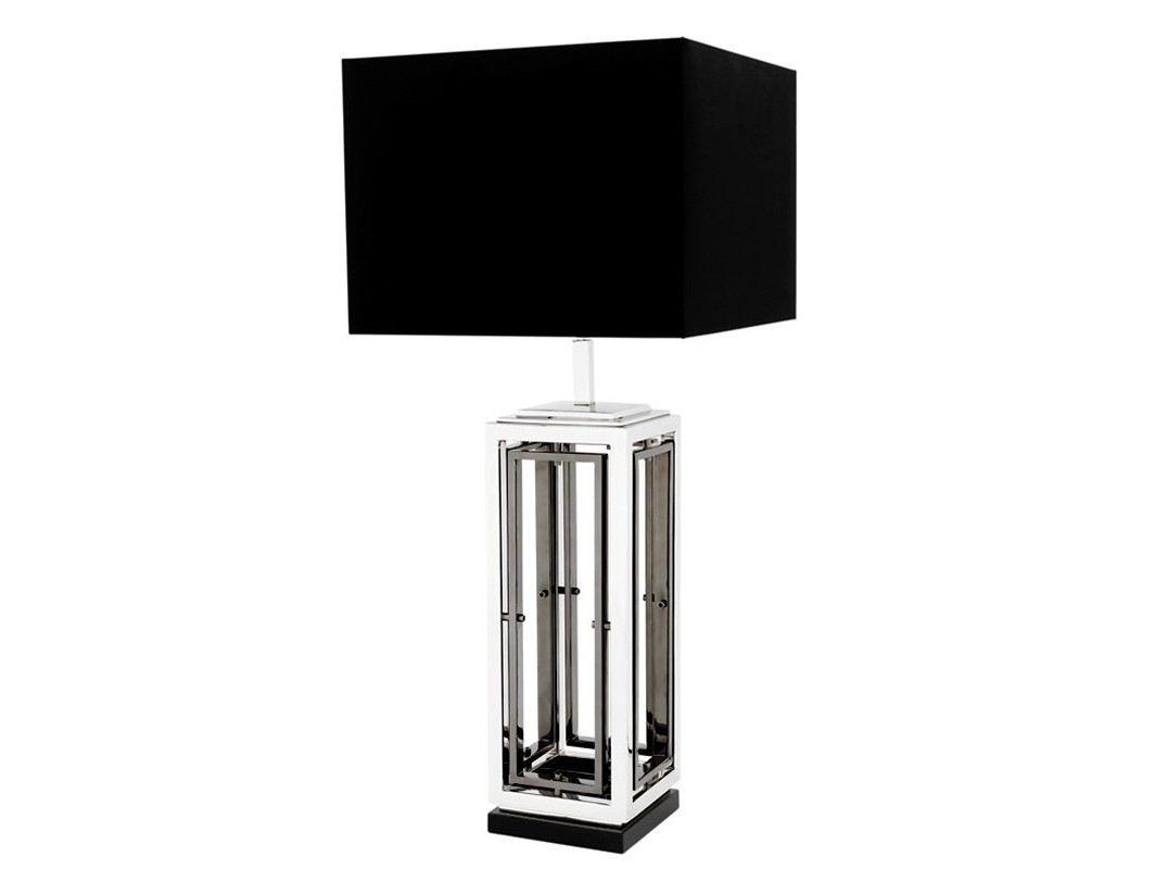 Настольная лампа BlackrockДекоративные лампы<br>Настольная лампа Table Lamp Blackrock на основании из комбинированного черного и никелированного металла. Текстильный абажур черного цвета скрывает лампу.&amp;lt;div&amp;gt;&amp;lt;br&amp;gt;&amp;lt;/div&amp;gt;&amp;lt;div&amp;gt;&amp;lt;div&amp;gt;Цоколь: E27&amp;lt;/div&amp;gt;&amp;lt;div&amp;gt;Мощность: 40W&amp;lt;/div&amp;gt;&amp;lt;div&amp;gt;Количество ламп: 1&amp;lt;/div&amp;gt;&amp;lt;/div&amp;gt;<br><br>Material: Металл<br>Ширина см: 40<br>Высота см: 96<br>Глубина см: 20