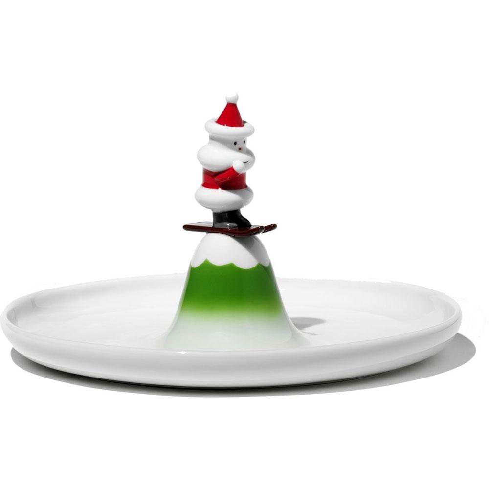 Блюдо для печенья scia natalinoДекоративные блюда<br>Блюдо для печенья Scia Natalino выполнено итальянскими дизайнерами бренда Alessi. Это милое блюдо для печенья, дополненное декором в виде новогоднего символа, послужит и интересным украшением стола на семейном празднике, и просто добавит уюта вашей домашней атмосфере.<br><br>Material: Фарфор<br>Height см: 13,5<br>Diameter см: 24