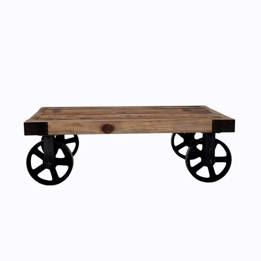 Кофейный столик на колесах «Лофт»Кофейные столики<br>&amp;lt;div&amp;gt;Дерево в теплых тонах и кованое железо - вечно актуальная комбинация для привлекательного интерьера. &amp;quot;Лофт&amp;quot;, - уникальный кофейный столик из антикварного дерева в индустриальном стиле, - словно искра, зажженная в прошлом столетии и сверкающая до сих пор. Нарочито тяжелый, на железных колесах, с эффектными накладками по краям столешницы, - всем свои видом этот предмет интерьера демонстрирует фундаментальный статус предпочтений своего обладателя. Столик произведен из натурального дерева вяз. Древесина вяза - крепкая, твердая, не боится сырости и устойчива к гниению. Края столешницы столика обиты металлической лентой, что придает столику еще большую брутальность. Необычные ножки стола, имитирующие старинные колеса, - реплика европейской романтики в эпоху урбанизма. Отделка: браширование, патинирование с эффектом старения.&amp;amp;nbsp;&amp;lt;/div&amp;gt;&amp;lt;div&amp;gt;&amp;lt;br&amp;gt;&amp;lt;/div&amp;gt;&amp;lt;div&amp;gt;Цвет: столешница - ореховый, ножки - черный.&amp;lt;/div&amp;gt;&amp;lt;div&amp;gt;Материалы: столешница - дерево вяз, ножки - металл.&amp;lt;/div&amp;gt;&amp;lt;div&amp;gt;&amp;lt;br&amp;gt;&amp;lt;/div&amp;gt;&amp;lt;div&amp;gt;Отделка: браширование, патинирование с эффектом старения.&amp;lt;/div&amp;gt;&amp;lt;div&amp;gt;Размер: 110?71?35 см&amp;amp;nbsp;&amp;lt;/div&amp;gt;&amp;lt;div&amp;gt;Вес: 38 кг&amp;lt;/div&amp;gt;<br><br>Material: Дерево<br>Length см: None<br>Width см: 110<br>Depth см: 71<br>Height см: 35
