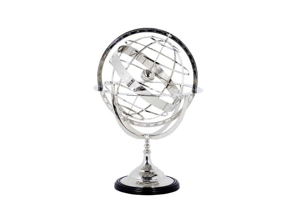 ГлобусДругое<br>Globe XL - глобус. Цвет металла - никель.<br><br>Material: Металл<br>Height см: 88<br>Diameter см: 57