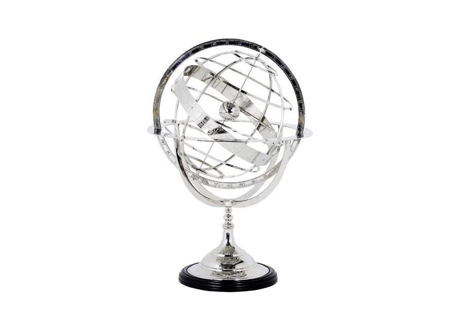 ГлобусДругое<br>Globe Large - глобус. Цвет металла - никель.<br><br>Material: Металл<br>Height см: 52<br>Diameter см: 32