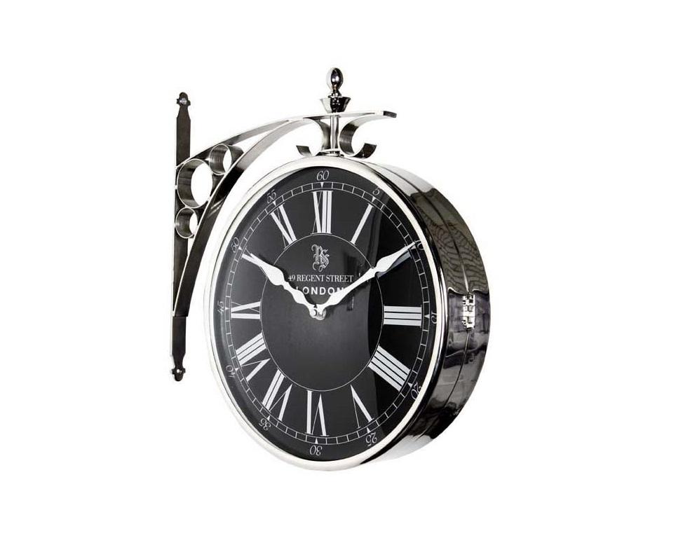 ЧасыНастенные часы<br>Clock Regent Street Large - часы настенные. Цвет металла - никель.&amp;amp;nbsp;&amp;lt;span style=&amp;quot;font-size: 14px;&amp;quot;&amp;gt;Кварцевый механизм.&amp;lt;/span&amp;gt;<br><br>Material: Металл<br>Высота см: 39