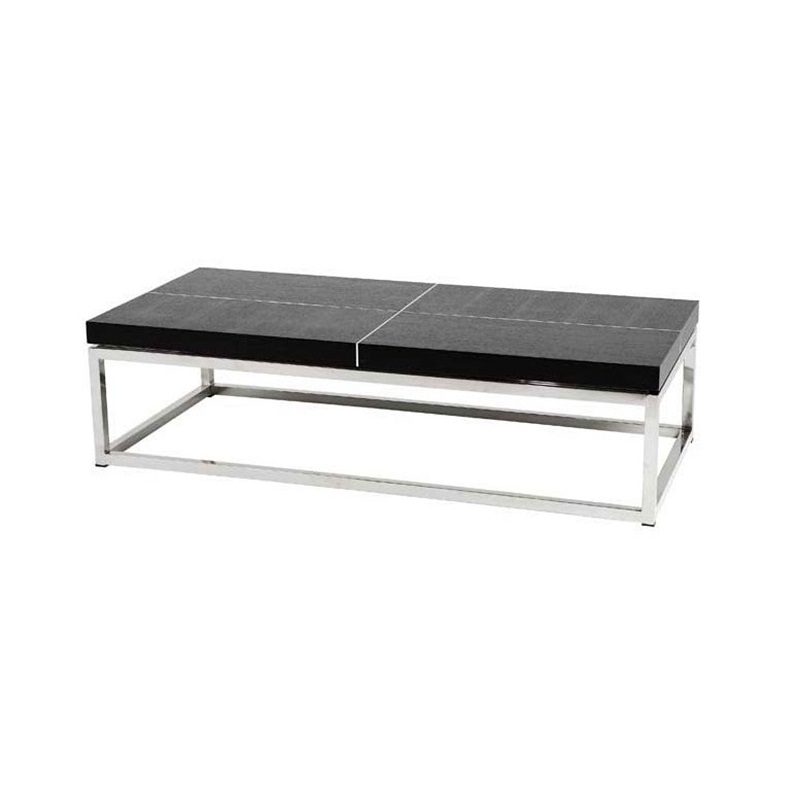 Журнальный столикЖурнальные столики<br>Журнальный столик Coffee Table Magnum на основании из нержавеющей стали. Столешница выполнена из дерева черного цвета.<br><br>Material: Дерево<br>Ширина см: 150<br>Высота см: 40<br>Глубина см: 70