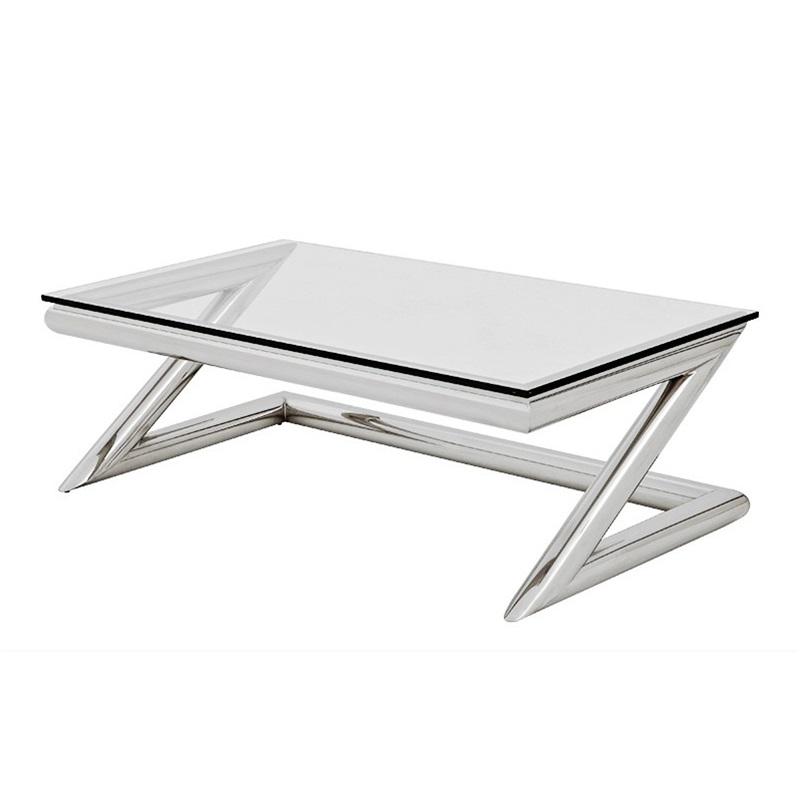 Журнальный столикЖурнальные столики<br>Журнальный столик Coffee Table Z на основании из нержавеющей стали. Столешница выполнена из плотного прозрачного стекла.<br><br>Material: Стекло<br>Width см: 135<br>Depth см: 75<br>Height см: 45