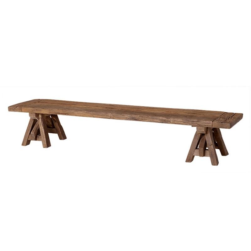 Журнальный столикСкамейки<br>Журнальный столик Coffee Table Bayonne из дуба, обработанного вручную. Цвет: светло-коричневый. По своей природе, деревянные доски могут быть неравномерным, могут присутствовать трещины. Таким образом каждый элемент является уникальным.<br><br>Material: Дерево<br>Width см: 200<br>Depth см: 45<br>Height см: 35
