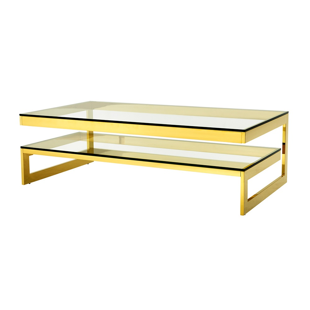 Журнальный столикЖурнальные столики<br>Журнальный столик Coffee Table Gamma на металлическом основании золотого цвета. Столешница выполнена из плотного прозрачного стекла.<br><br>Material: Стекло<br>Ширина см: 150<br>Высота см: 40<br>Глубина см: 80