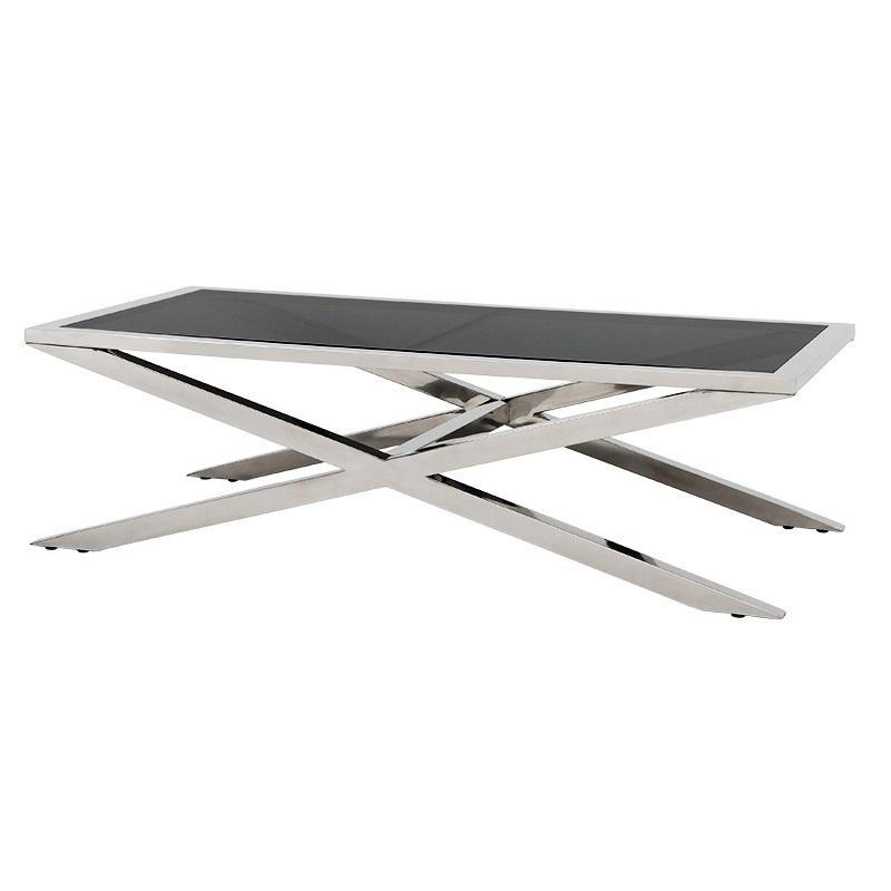 Журнальный столикЖурнальные столики<br>Журнальный столик Coffee Table Gramercy Park на основании из нержавеющей стали. Столешница выполнена из плотного стекла дымчатого цвета.<br><br>Material: Стекло<br>Ширина см: 160<br>Высота см: 46<br>Глубина см: 80