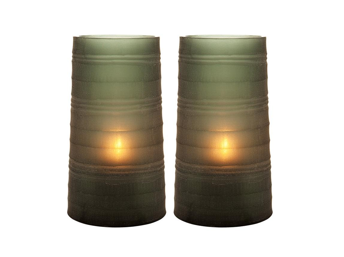 ПодсвечникПодсвечники<br>Подсвечник Menardi Sapphire L S/2 ручной работы из стекла. Цвет стекла: серо-зеленый.<br><br>Material: Стекло<br>Высота см: 23