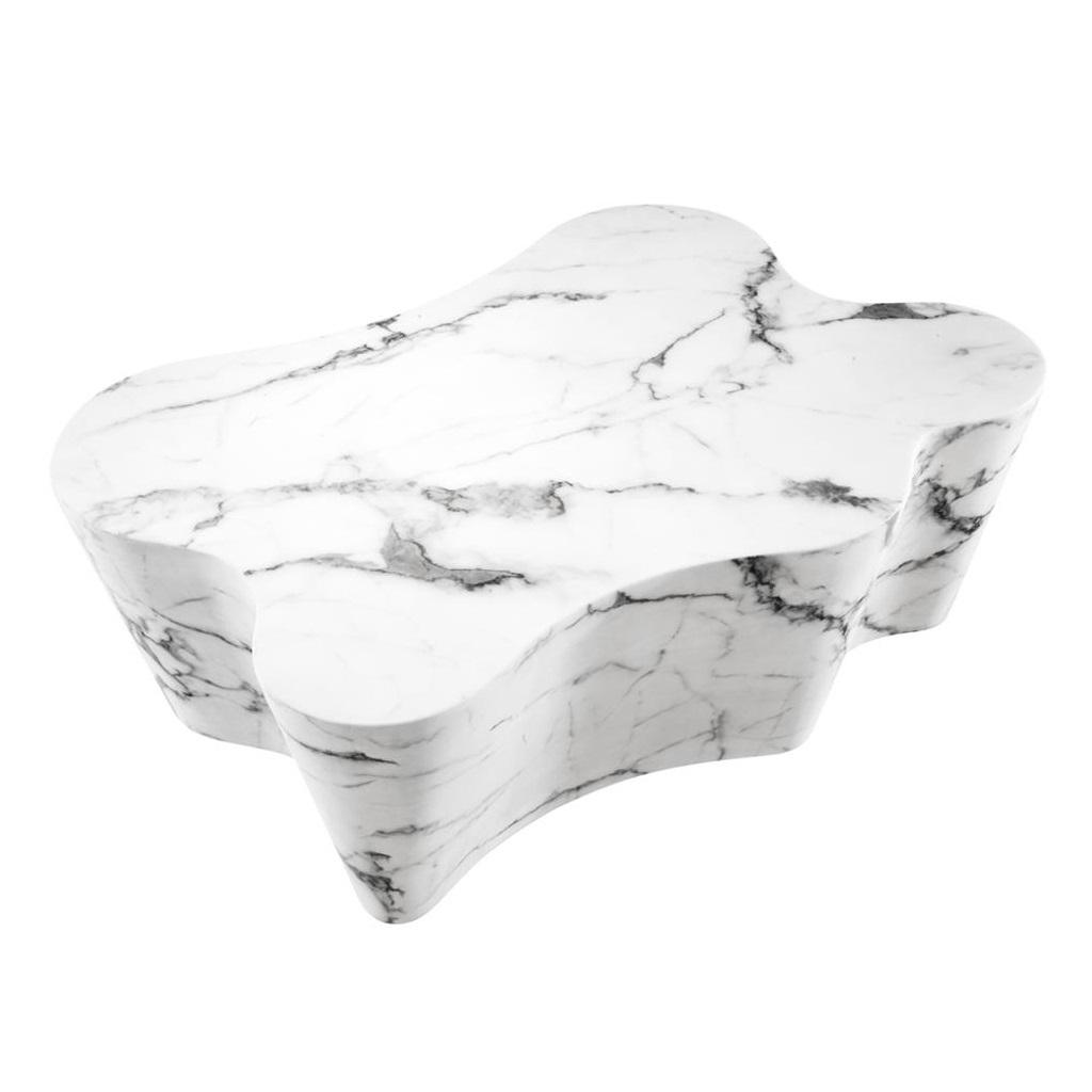 Журнальный столикЖурнальные столики<br>Журнальный столик Coffee Table Sceptre с имитацией мрамора глянцевого белого цвета.<br><br>Material: Мрамор<br>Ширина см: 116.0<br>Высота см: 38.0<br>Глубина см: 76.0