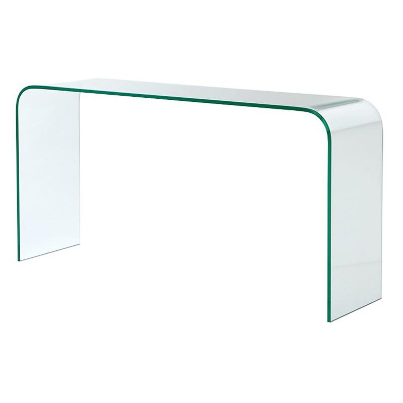 КонсольНеглубокие консоли<br>Консоль Console Table Gianotti выполнена из плотного прозрачного стекла.<br><br>Material: Стекло<br>Width см: 150<br>Depth см: 40<br>Height см: 76