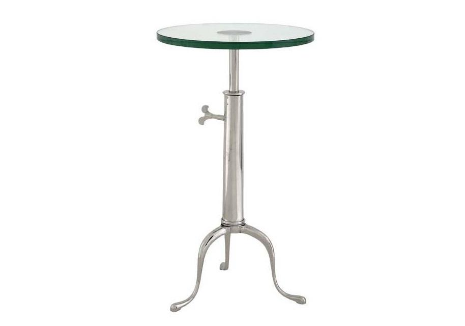 СтолКофейные столики<br>Table Brompton - столик. Столешница стеклянная. Основание металлическое, цвет - светлый никель.<br><br>Material: Стекло<br>Height см: 76<br>Diameter см: 40