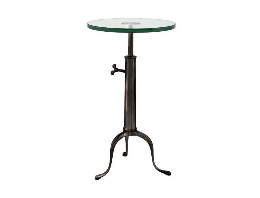 СтолКофейные столики<br>Table Brompton - столик. Столешница стеклянная. Основание металлическое, цвет - бронза.<br><br>Material: Стекло<br>Height см: 76<br>Diameter см: 40
