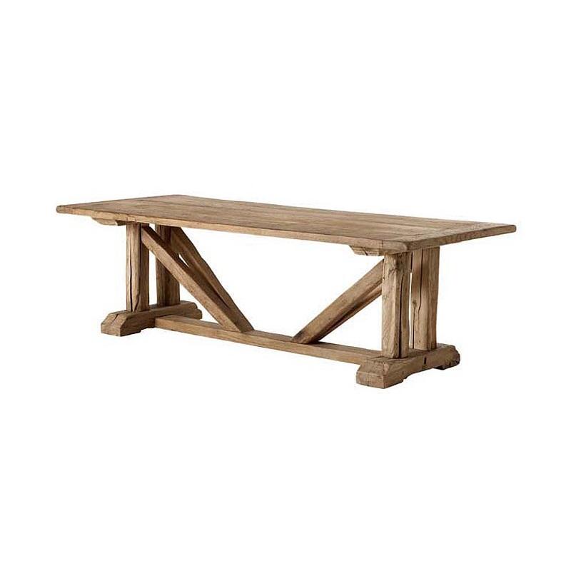 СтолОбеденные столы<br>Деревянный стол Dining Particulier из дуба обработан вручную. Цвет: светло-коричневый. По своей природе, деревянные доски могут быть неравномерным, могут присутствовать трещины. Таким образом каждый элемент является уникальным.<br><br>Material: Дерево<br>Ширина см: 230.0<br>Высота см: 76.0<br>Глубина см: 100.0