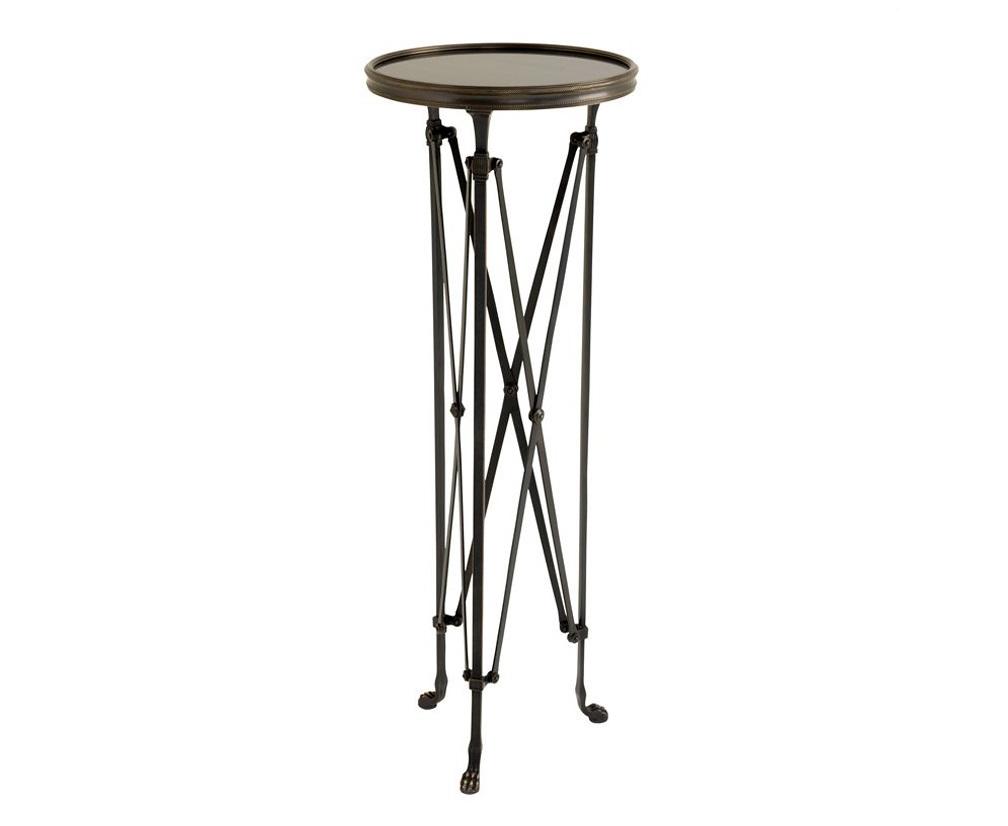 СтолПриставные столики<br>Колонна St etienne на металлических ножках цвета античная бронза. Столешница выполнена из плотного стекла шоколадного цвета.<br><br>Material: Металл<br>Width см: None<br>Depth см: None<br>Height см: 100<br>Diameter см: 36