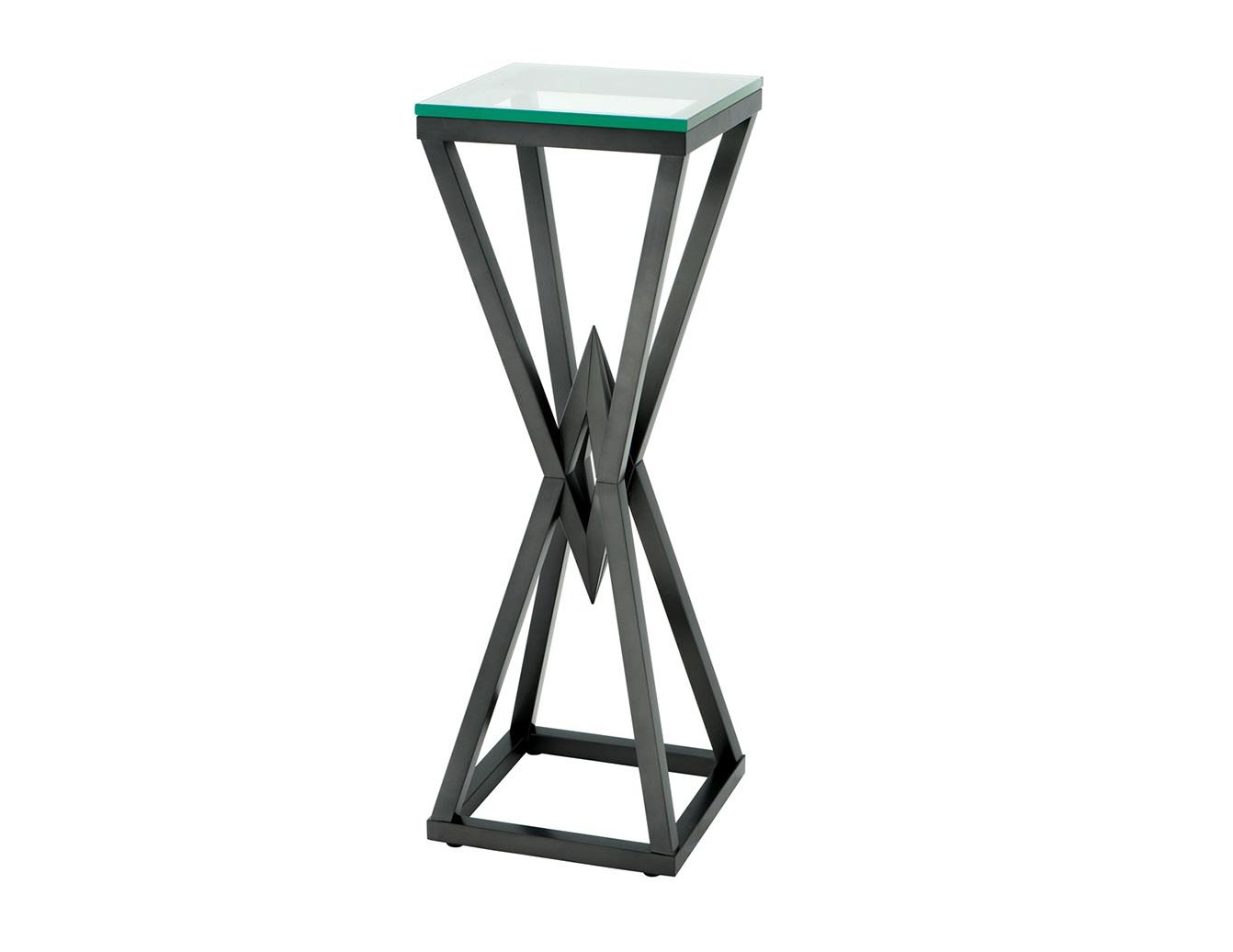 КолоннаПьедесталы<br>Колонна Column Connor на металлическом основании бронзового цвета. Столешница выполнена из плотного прозрачного стекла.<br><br>Material: Металл<br>Ширина см: 35<br>Высота см: 100<br>Глубина см: 35