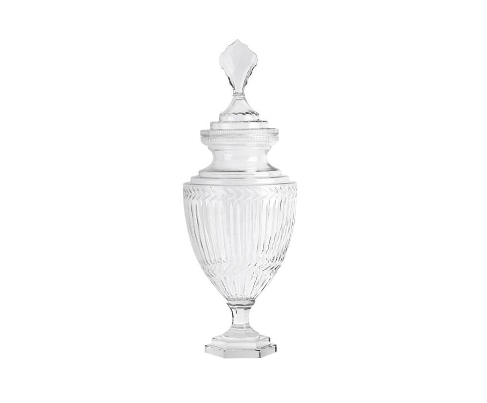 ВазаВазы<br>Ваза Vase Harcourt glass M с крышкой. Выполнена из прозрачного стекла.<br><br>Material: Стекло<br>Высота см: 62