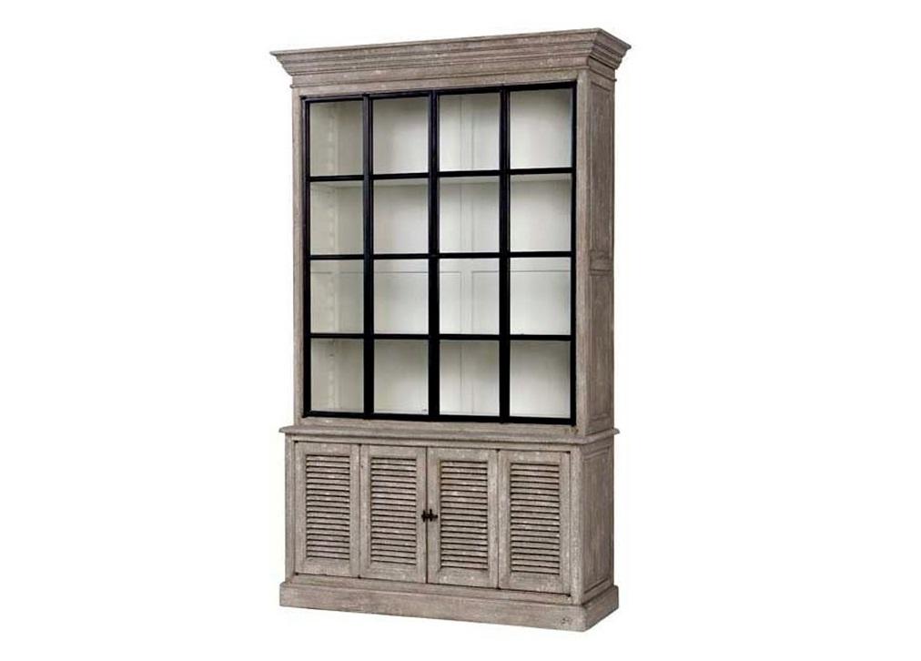 ВитринаВитрины<br>Витрина Cabinet Le Baron выполнена из дерева серого цвета под старину. Стеклянные створки.<br><br>Material: Дерево<br>Width см: 149<br>Depth см: 50<br>Height см: 240