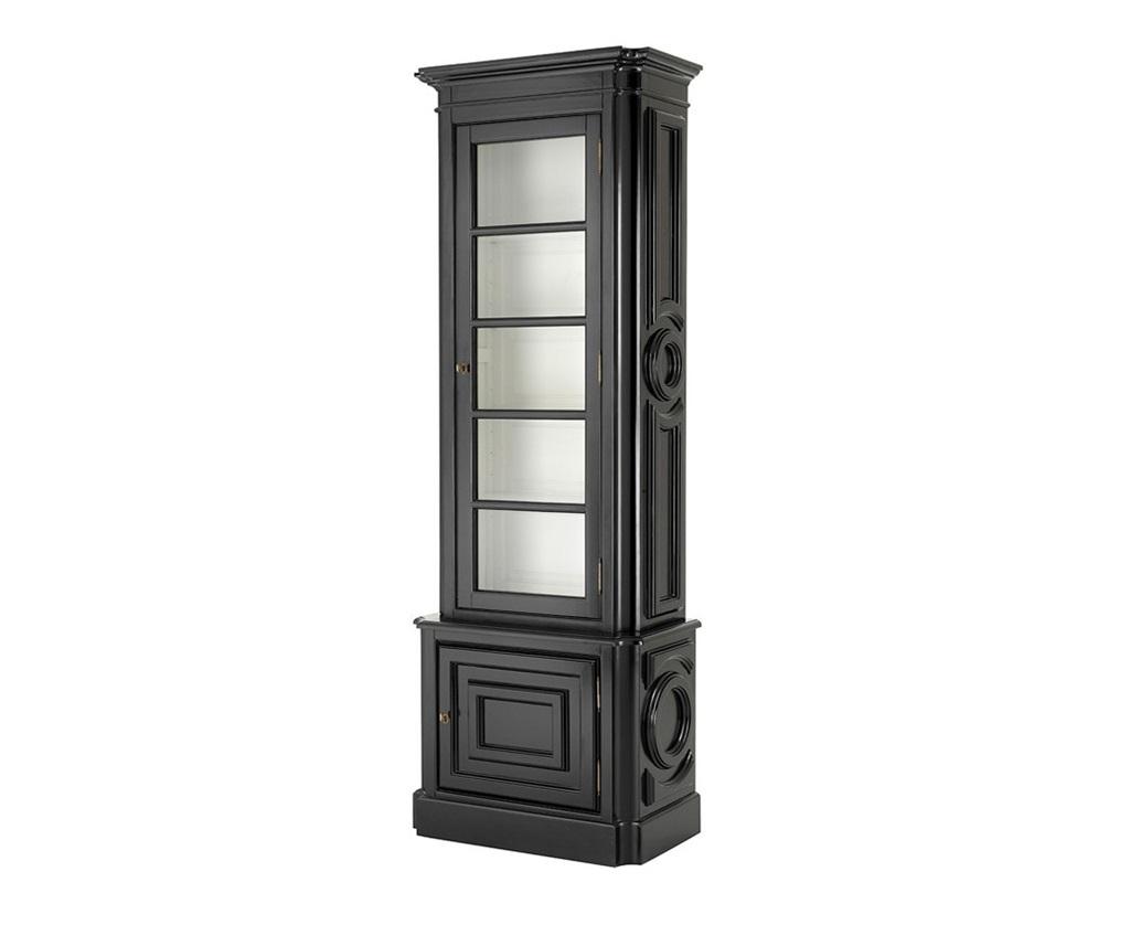 ВитринаВитрины<br>Витрина Cabinet Splendor Right выполнена из дерева черного цвета. Внутри витрина белого цвета. Стеклянная створка открывается вправо.<br><br>Material: Дерево<br>Width см: 83<br>Depth см: 46<br>Height см: 238