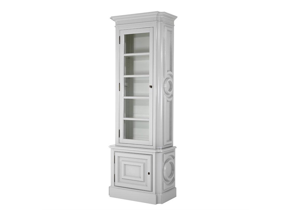 ВитринаВитрины<br>Витрина Cabinet Splendor Left выполнена из дерева серого цвета. Внутри витрина белого цвета. Стеклянная створка открывается влево.<br><br>Material: Дерево<br>Width см: 834<br>Depth см: 46<br>Height см: 238