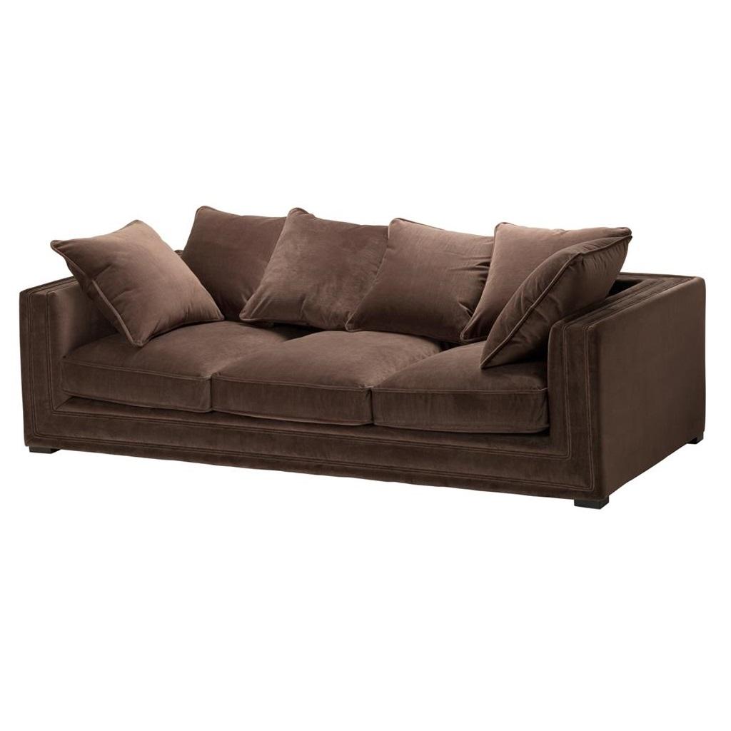 ДиванТрехместные диваны<br>Диван Sofa Menorca обтянут тканью коричневого цвета. Мягкие подушки под спину.&amp;amp;nbsp;&amp;lt;div&amp;gt;&amp;lt;br&amp;gt;&amp;lt;/div&amp;gt;&amp;lt;div&amp;gt;Состав ткани: 95% полиэстер, 5% хлопок.&amp;lt;/div&amp;gt;<br><br>Material: Текстиль<br>Ширина см: 242<br>Высота см: 83<br>Глубина см: 106