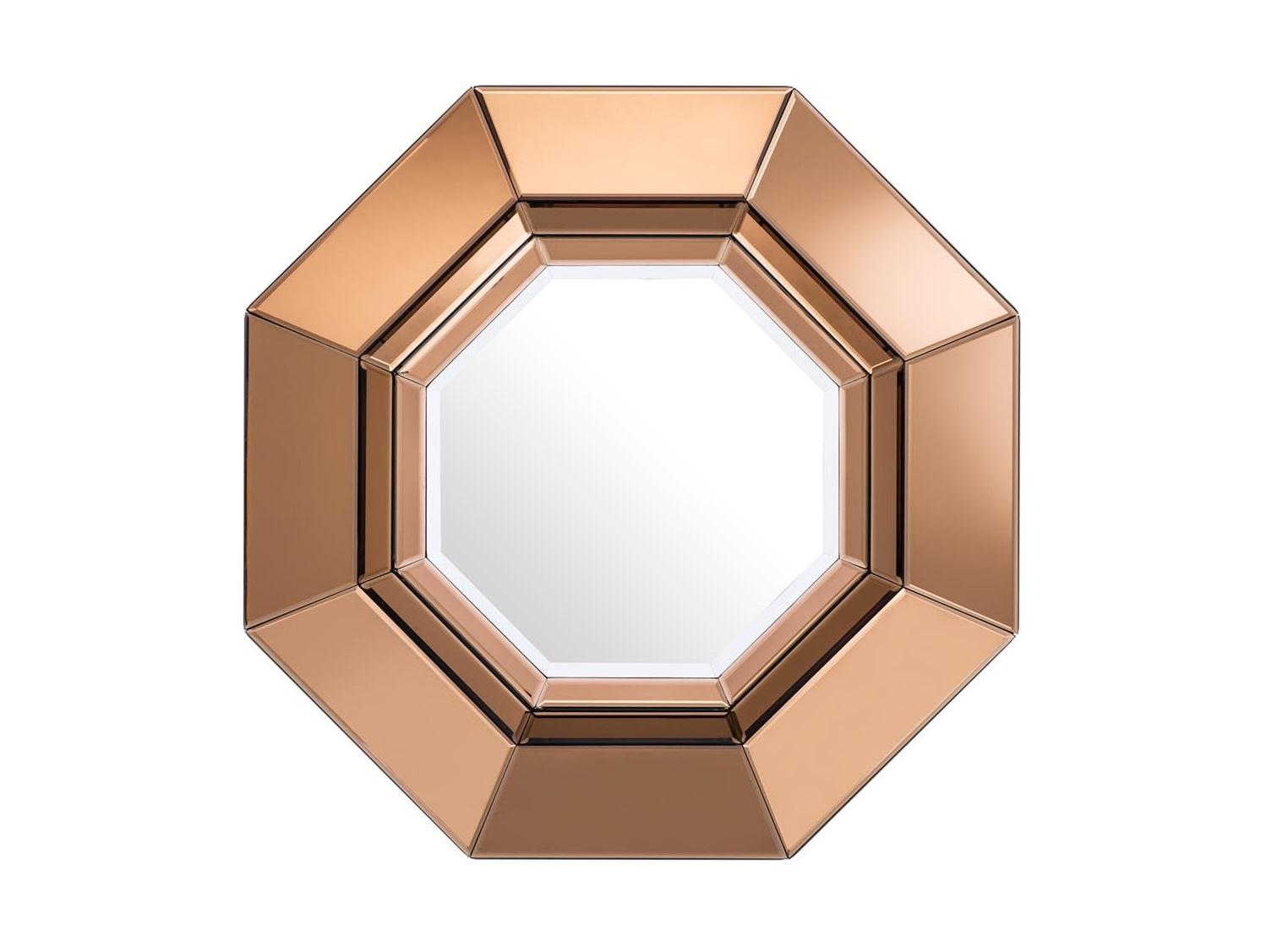 ЗеркалоНастенные зеркала<br>Зеркало Mirror Chartier в рамке из зеркального стекла янтарного цвета.<br><br>Material: Стекло<br>Height см: 68<br>Diameter см: 68