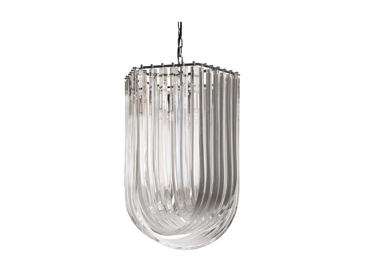 Подвесная люстра CasertaЛюстры подвесные<br>Подвесная люстра Caserta на никелированной арматуре. Оригинальный плафон выполнен из прозрачного муранского стекла. Высота светильника регулируется за счет звеньев цепи.&amp;lt;div&amp;gt;&amp;lt;br&amp;gt;&amp;lt;/div&amp;gt;&amp;lt;div&amp;gt;&amp;lt;div&amp;gt;Вид цоколя: E27&amp;lt;/div&amp;gt;&amp;lt;div&amp;gt;Мощность лампы: 40W&amp;lt;/div&amp;gt;&amp;lt;div&amp;gt;Количество ламп: 4 (нет в комплекте)&amp;lt;/div&amp;gt;&amp;lt;/div&amp;gt;<br><br>Material: Стекло<br>Width см: 44<br>Depth см: 51<br>Height см: 70