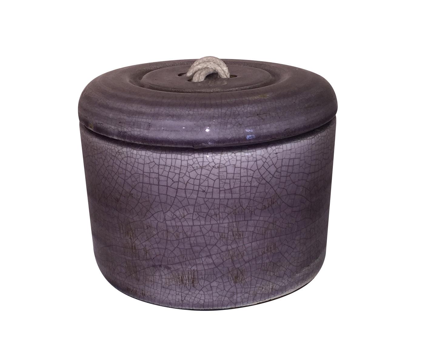 Ваза с крышкойЕмкости для хранения<br><br><br>Material: Керамика<br>Height см: 15,5<br>Diameter см: 21,5