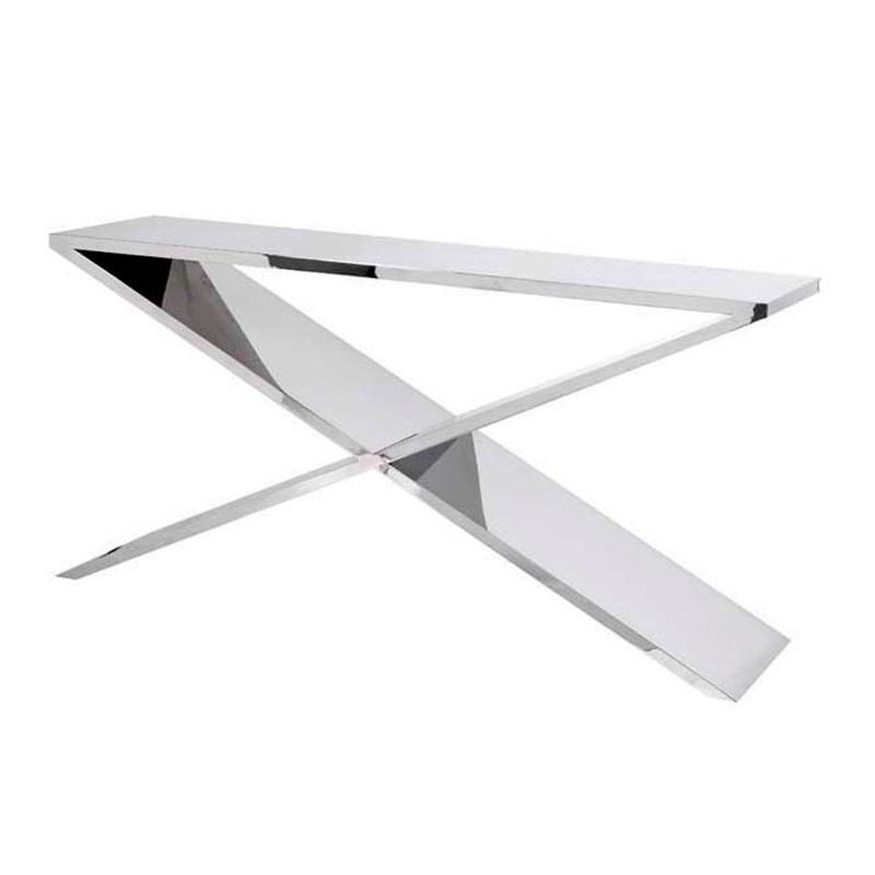 КонсольНеглубокие консоли<br>Консоль Console Table Metropole выполнена из нержавеющей стали.<br><br>Material: Сталь<br>Width см: 150<br>Depth см: 40<br>Height см: 74