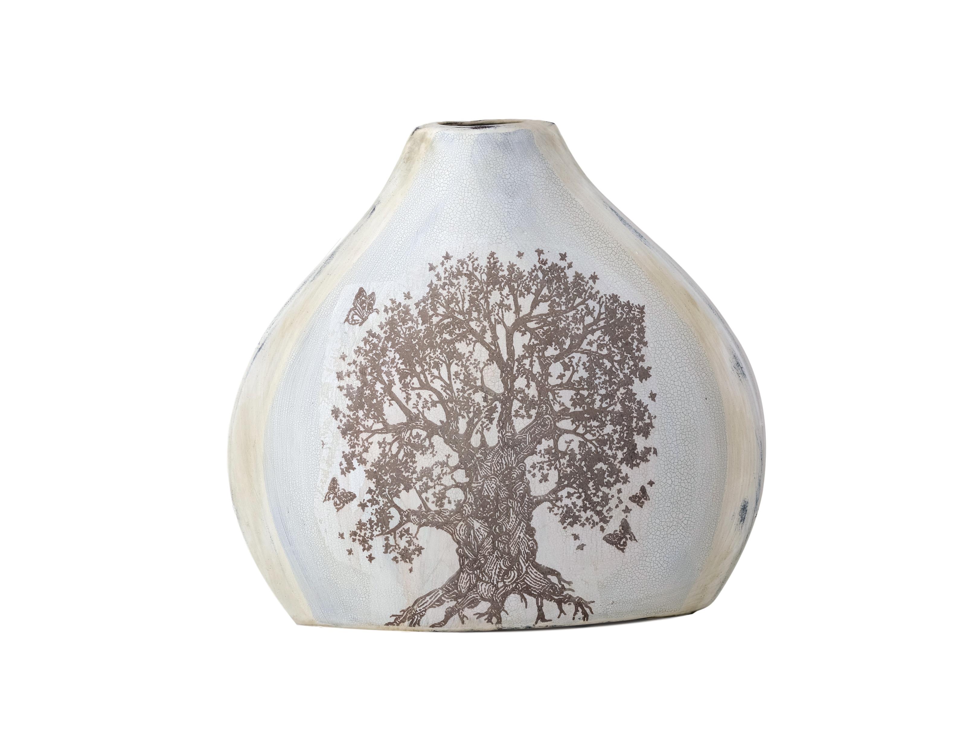 ВазаВазы<br>Ваза плоская с рисунком &amp;quot;Дерево&amp;quot; и старением.<br><br>Material: Керамика<br>Width см: 37<br>Depth см: 1,1<br>Height см: 36